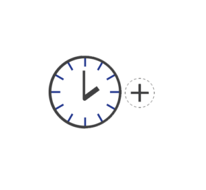Clock icon for hearing provider hours